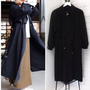 Fleet Street Women's Black Trench Coat Size 6